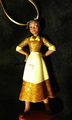 Disney Princess and the Frog Gold Tiana glittering Christmas Ornament