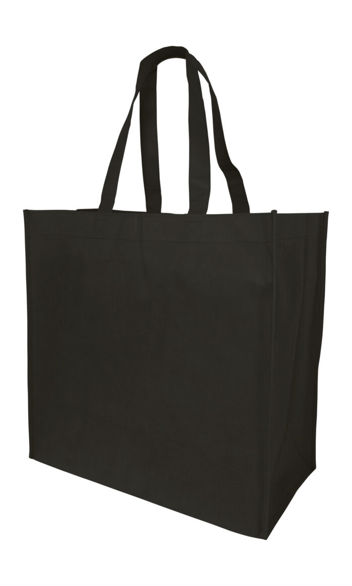 Qty 4 Extra Large Grocery Tote Shopping Bag Black Recyclable