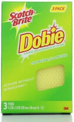 Scotch-Brite Dobie All-Purpose Cleaning Pads 3 ea (Pack of 2)
