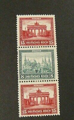 """GERMANY,GERMANIA REICH  Zusammendruck 1930 """" BENEFICENZA """" 1 Valore MINT Mi.S.79"""
