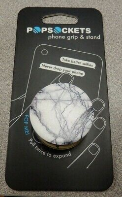 PopSockets Expanding Stand and Grip for Smartphones and Tablet- White Marble New