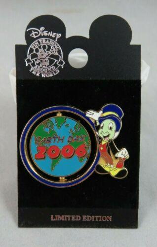Walt Disney World Disneyland Pin - Earth Day 2006 - Jiminy Cricket - Spinner