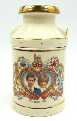 VINTAGE ROYAL WEDDING PRINCE CHARLES & PRINCESS LADY DIANA CHINA CREAM CHURN