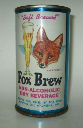 Old FOX BREW FLAT TOP BEER CAN Waukesha, Wisconsin NICE!