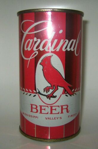 Old CARDINAL FLAT TOP BEER CAN St. Charles, Missouri