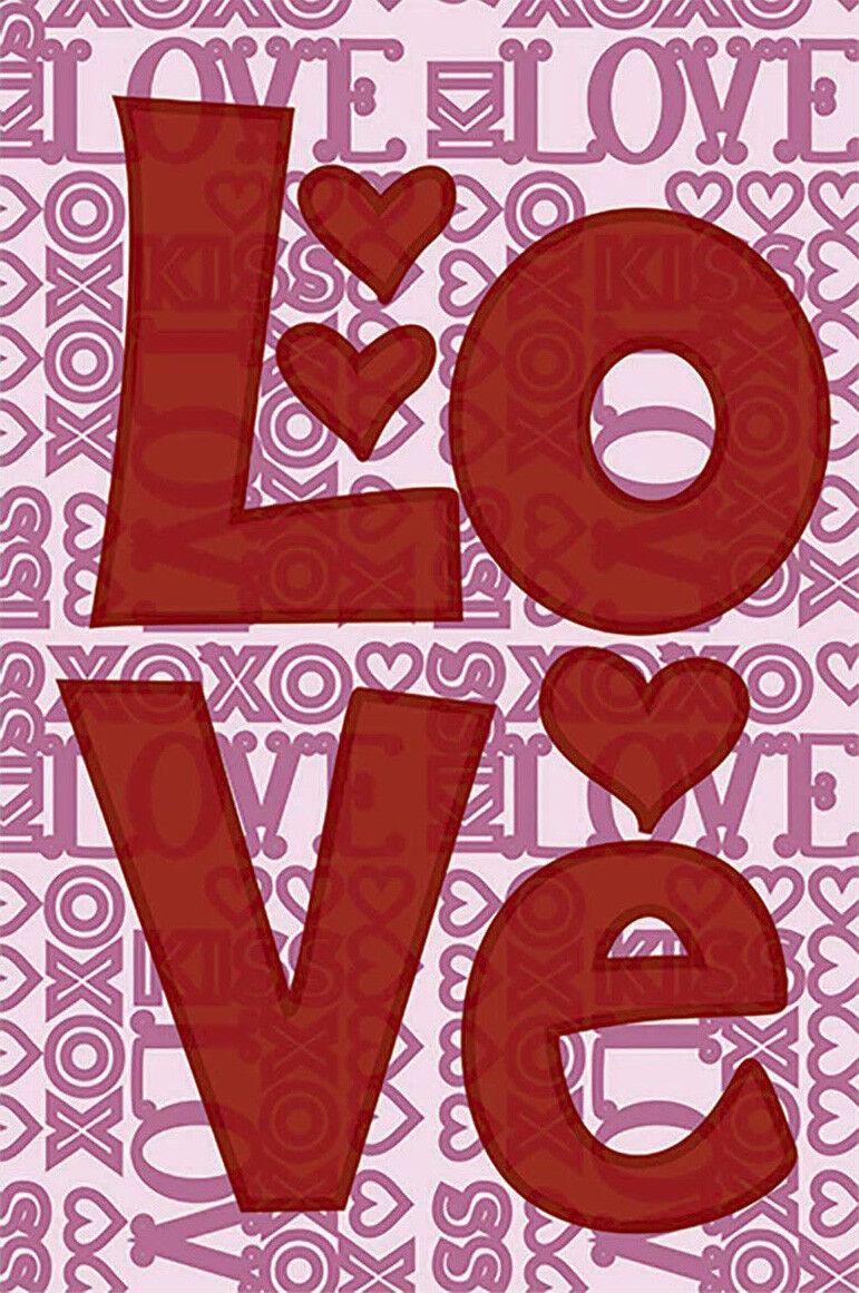 happy valentine day red love word decor