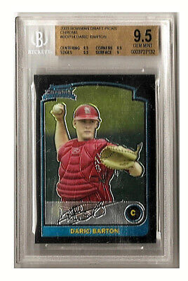 Daric Barton 2003 Bowman Chrome Draft Pics  Bdp34 Rc Bgs Gem Mint 9 5 St  Louis