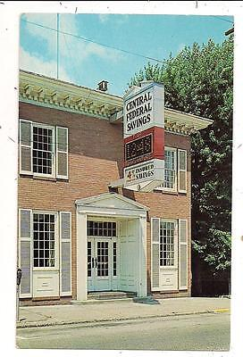 Central Federal Savings And Loan Wellsville Oh Columbiana Postcard 021513