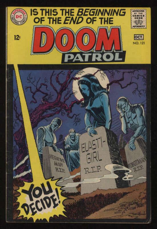 Doom Patrol #121 VG+ 4.5 OW Pgs Last Issue DC Comics
