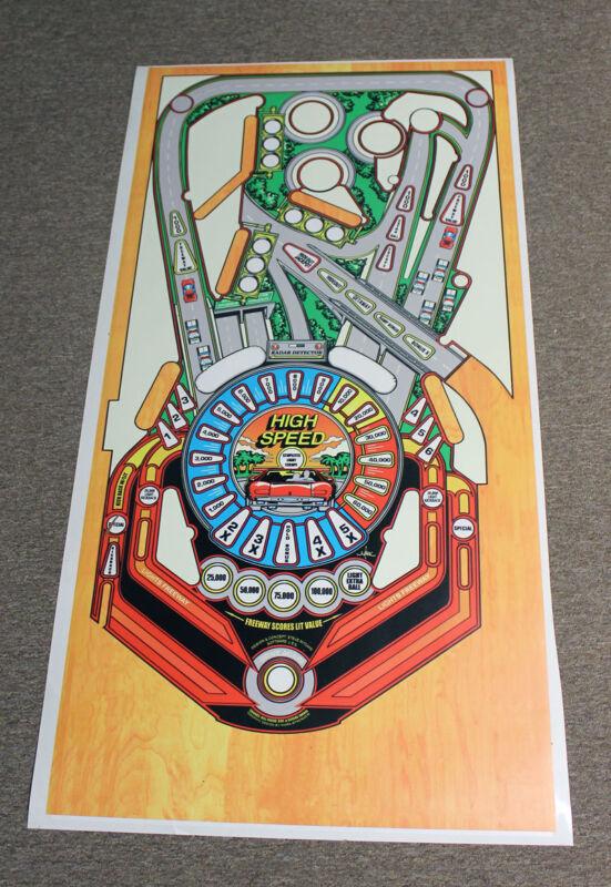 WILLIAMS HIGH SPEED Pinball Machine Playfield Overlay
