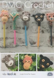 DMC 15346L/2 Jungle Animal Pen Toppers Amigurumi Crochet Pattern