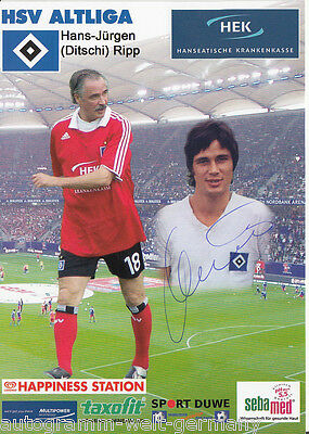 Hans-Jürgen Ripp Hamburger SV Altliga AK 2012-13 TOP Original Signiert +A22578