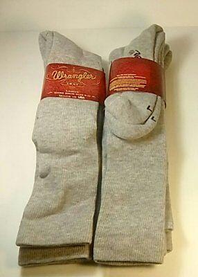 Western Boot Socken (Wrangler Ultra-Dri OTC Western Boot Sock, Large, Grey, 4 pr $21.99+FREE SHIPPING)