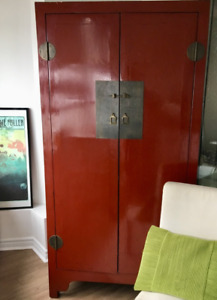 Home/Office Red Wardrobe - Great Desk /for Electronics/Storage