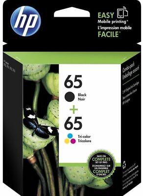 HP 65 Black & 65 Tri-Color ink Cartridges for DeskJet, Envy Printers, EXP 2020