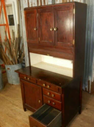 Antique Oak Hoosier style Kitchen Cabinet