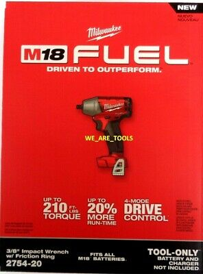 NEW IN BOX Milwaukee 18V 2754-20 FUEL 3/8
