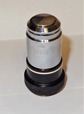 Zeiss Microscope Plan 100x Oil Immersion Objective For 160mm Tl Microscopes