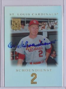 2001-TOPPS-TRIBUTE-44-RED-SCHOENDIENST-AUTOGRAPH-CARD-ST-LOUIS-CARDINALS