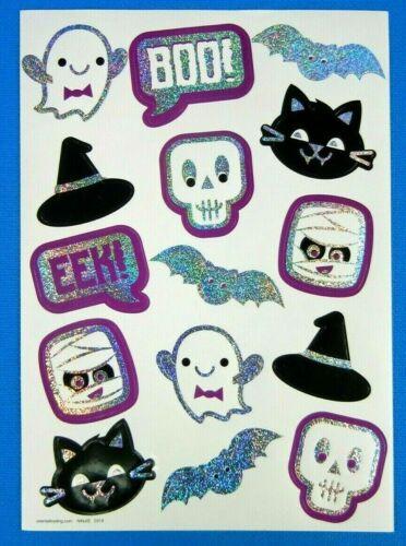 Prismatic Halloween Ghosts & Ghouls Sticker Sheet