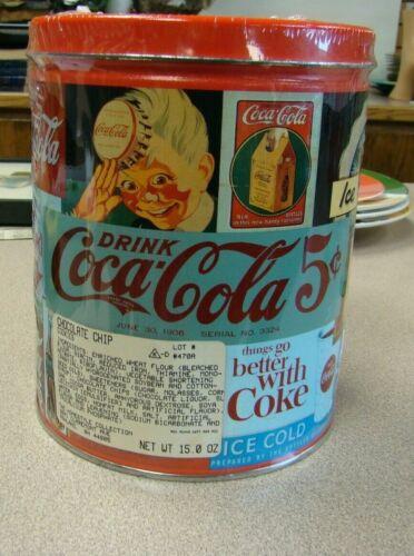 Collectible Vintage  Coca-Cola Tin Can Round