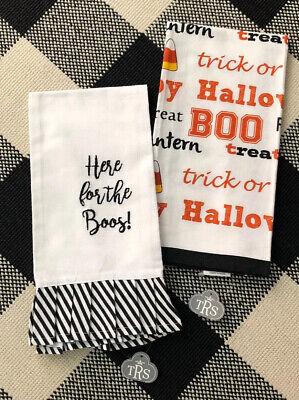 Boo Word For Halloween (Set-2  HALLOWEEN HAND / TEA TOWELS