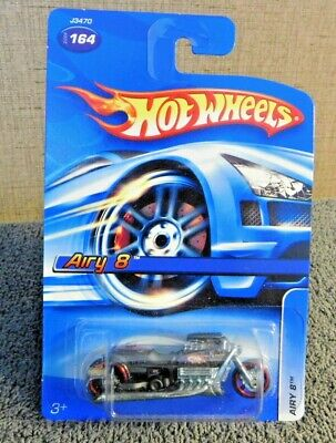 Hot Wheels Airy 8 Motorcycle Collector #164 Black 2006