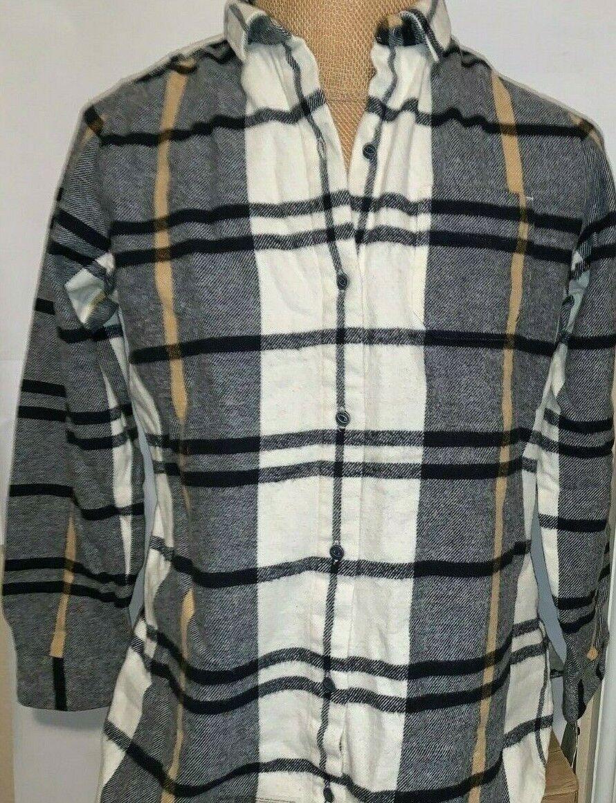 Woolrich Women's Oxbow Bend Plaid  Flannel Shirt Jacket M  -