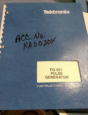 Tektronix Pg501 Pg 501 Pulse Generator Instruction Manual Wschematics