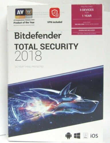 Bitdefender Total Security 2018 (5-Devices) (1-Year Subscription) Android|Mac|Windows|iOS BIT940800F142