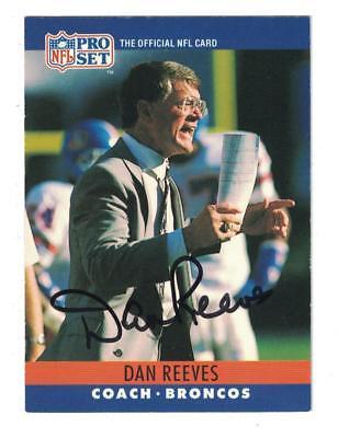 (Dan Reeves AUTOGRAPH 1990 PRO SET FOOTBALL CARD SIGNED DENVER BRONCOS)