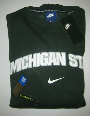 Men's Nike Michigan State Spartans Sweatshirt Green M-L-2XL New NWT MSRP covid 19 (Michigan State Spartans Green coronavirus)