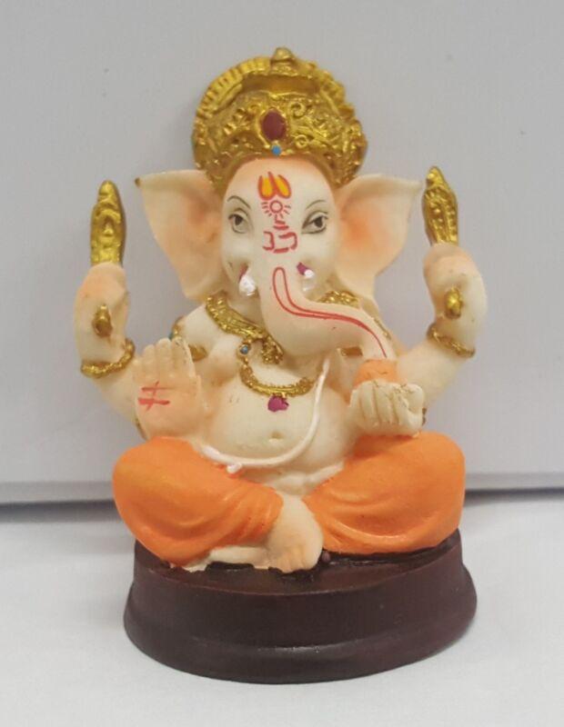Ganesh Idol for Car Dashboard - Hindu Ganesha Statue Elephant God- Ganpati Lord