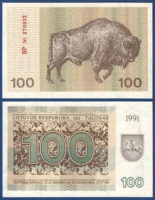 LITAUEN / LITHUANIA 100 Talonas 1991 UNC  P.38 b