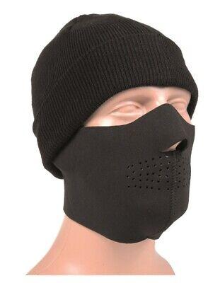 NEU US Tactical Airsoft NEOPREN Gesichtsschutzmaske schwarz 3 mm Gesichtsmaske
