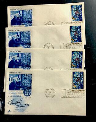"ODZ & ENDZ 4 UN-NY 6¢-SCOTT#:180 -""THE KISS OF PEACE"" BLUE FDC ARTCRAFT 1917"