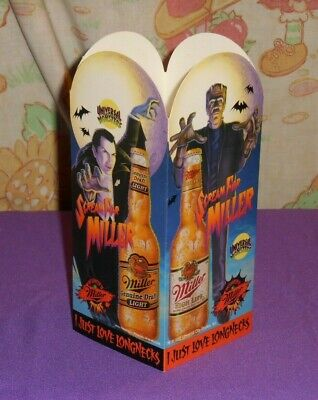 MILLER HIGH LIFE LITE GENUINE DRAFT beer Halloween table tent Universal -