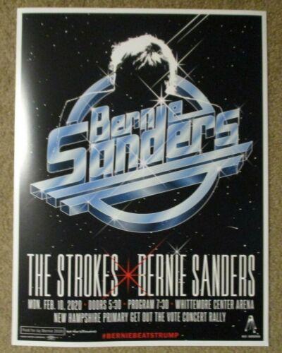 BERNIE SANDERS The Strokes 2-10-20 2020 New Hampshire Primary CAMPAIGN POSTER