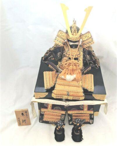 Vintage Japanese Hand Made Samurai to Scale Armor Doll ~ Signed ~ Original Docs