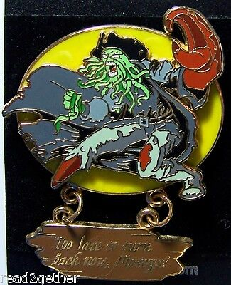 Disney Pin Pirates of the Caribbean Too Late To Turn Back Now Mateys Davy Jones