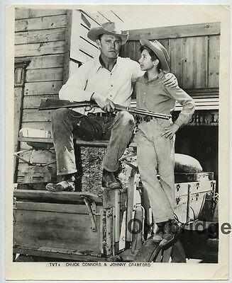 JOHNNY CRAWFORD Chuck Connors The Rifleman 1958 ORIGINAL ABC Western Photo J3676