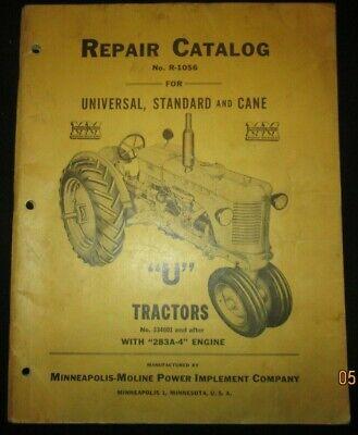 Minneapolis-moline U Tractors Parts Repair Catalog Book Manual Original 1947