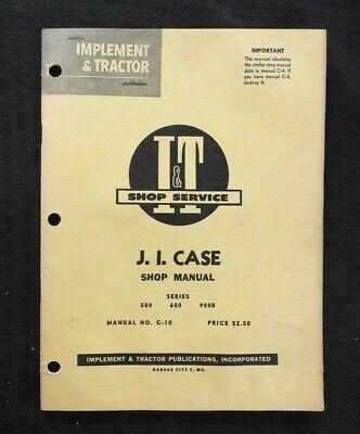 1959 Case 500 600 700b Tractor I T Shop Manual Good Shape