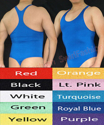 G3028 Hot Mens Bodysuit Thong Leotard Swimsuit Tricot Thong Back - Mens Bodysuit