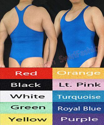 G3028 Hot Mens Bodysuit Thong Leotard Swimsuit Tricot Thong Back](Mens Bodysuit)