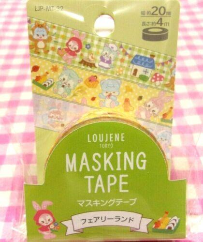 LOUJENE TOKYO / Fairy Land Rabbit Bear Picnic Washi Paper Masking Tape / Japan