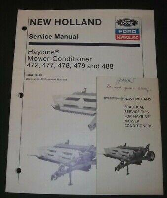 New Holland 472 477 478 479 488 Mower Conditioner Service Shop Repair Manual
