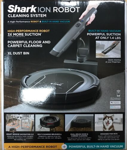 SharkNinja Robot Cleaning System S87  with Hand Vacuum in Al