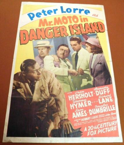 MR MOTO IN DANGER ISLAND - 1939 PETER LORRE Mystery Film ONE SHEET MOVIE POSTER