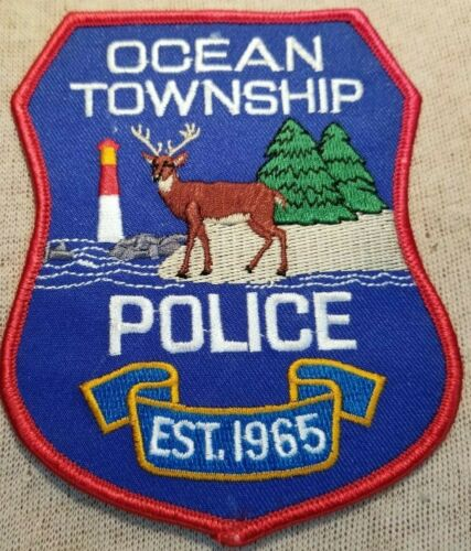 NJ Ocean Township New Jersey Police Patch